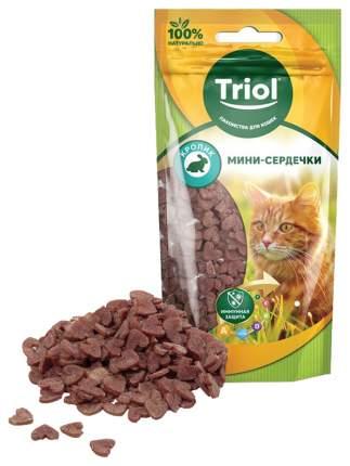 Лакомство для кошек Triol Мини-сердечки Кролик 40 г