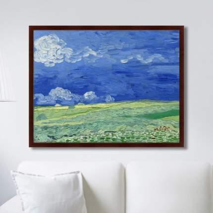 Картина Wheatfields under Thunderclouds, 1890г,, 78,5х100см, Картины в Квартиру