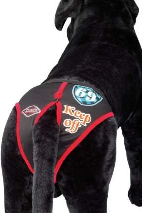 Трусы гигиенические для собак D&D DOG PANTS Keep Off черные с красным, размер XXL