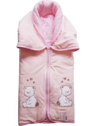 Конверт-одеяло Папитто на молнии с вышивкой Розовый 82*92 53-150