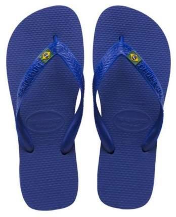 Сланцы детские Havaianas Brasil Azul Naval р.36 Синие