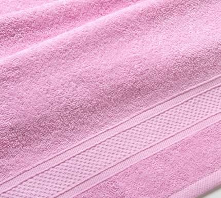 Полотенце махровое с бордюром (светло-розовое) 40х70