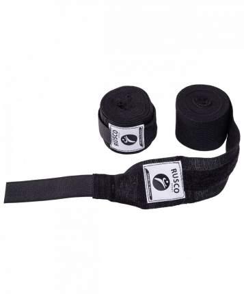 Бинт боксерский Rusco Sport, 4,5 м, хлопок, черный