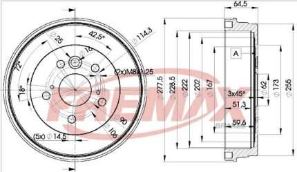 Тормозной барабан FREMAX BD-4443