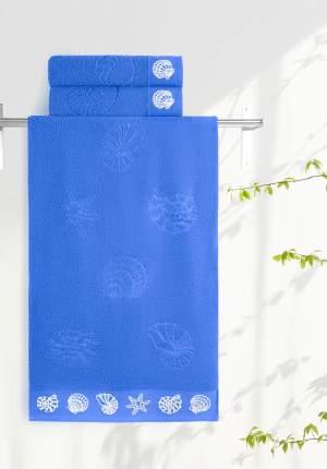 Полотенце универсальное Aquarelle Ракушки синий