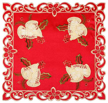 Салфетка SANTALINO Колокольчики на красном 829-136 35x35 см