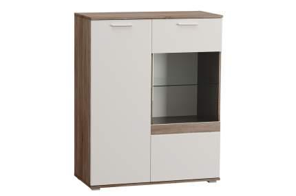Платяной шкаф Hoff Денвер 80330630 97х45х122, дуб сонома трюфель/белый глянец