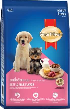 Сухой корм для щенков Smart Heart Puppy, все породы, говядина и молоко, 15кг