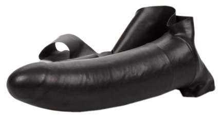 Черный страпон для оральной стимуляции The Original Accommodator Latex Dong