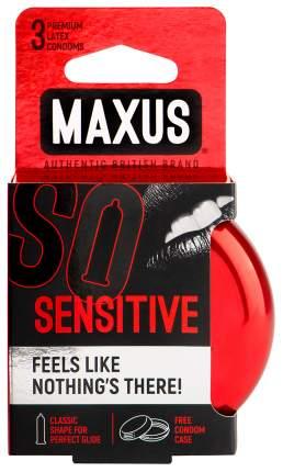 Презервативы Maxus Sensitive в железном кейсе ультратонкие 3 шт.