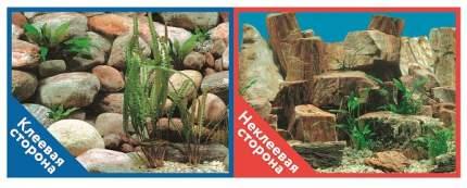 Фон для аквариума Prime самоклеющийся Каменная терасса/Каменный рельеф 50x100см