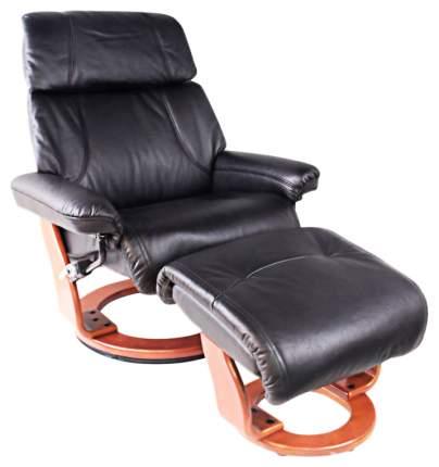 Кресло для гостиной Relax 104х89х104 см, коричневый/черный