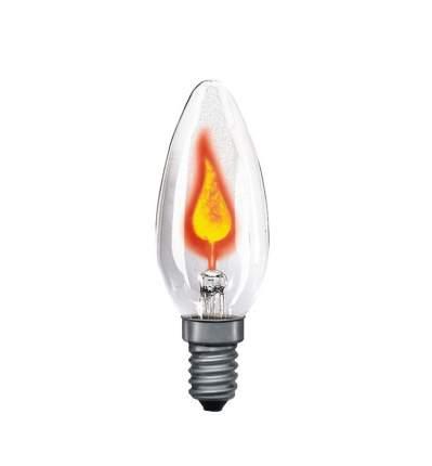 Лампа мерцающая свеча прозрачная Е14, 3W 53000