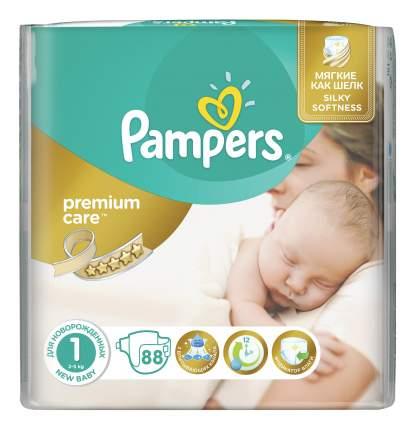 Подгузники для новорожденных Pampers Premium Care 1 (2-5 кг), 88 шт.
