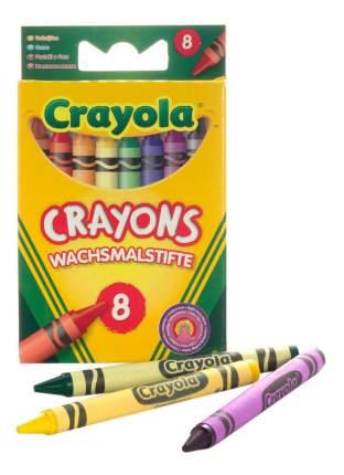 8 разноцветных стандартных восковых мелков