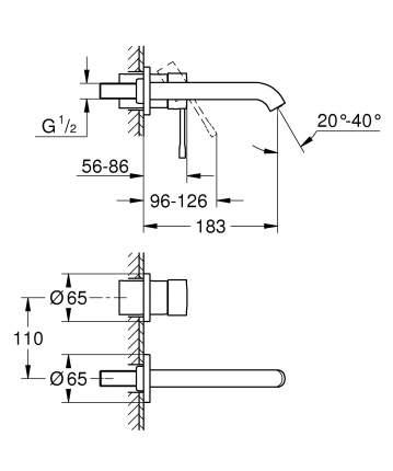 Смеситель для встраиваемой системы Grohe Essence+ 19408001 серебристый