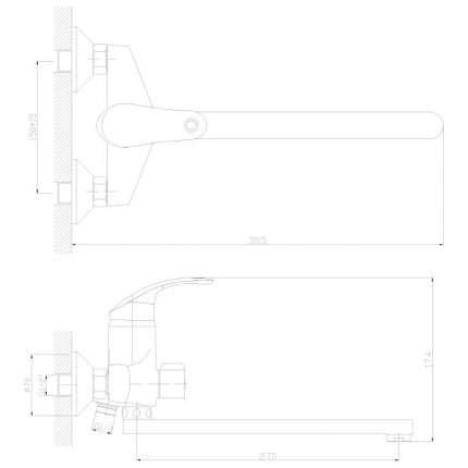 Смеситель универсальный Decoroom DR68043 хром