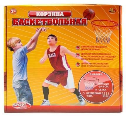 Баскетбольная корзина ABtoys №7 с сеткой и креплениями диаметр 42 см