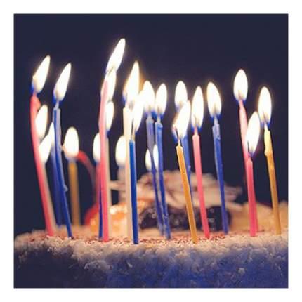 Свеча для торта Веселая затея 17 см 24 шт.