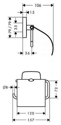 Держатель для туалетной бумаги Hansgrohe PuraVida Хром