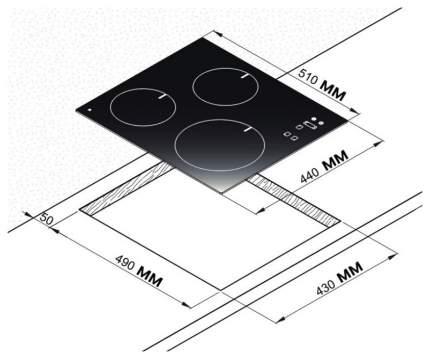Встраиваемая варочная панель индукционная Korting HI 42031 B Black