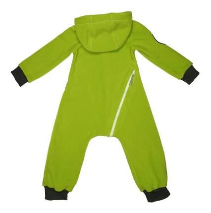 Комбинезон детский Bambinizon Флисовый Зеленое яблоко р.74