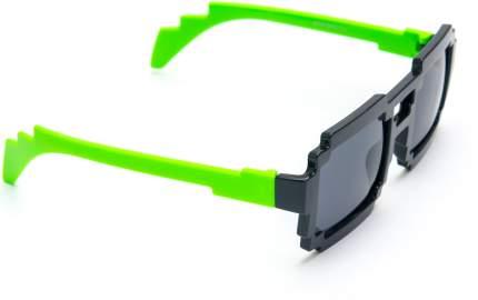 Пиксельные очки зеленые дужки