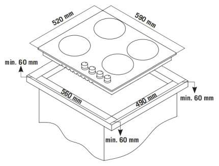 Встраиваемая варочная панель газовая Zigmund & Shtain GN 238.61 S Silver