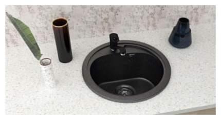 Смеситель для кухонной мойки Ulgran 004 308 черный