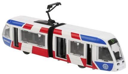 Технопарк. Трамвай новый с гармошкой, 19 см., арт.SB-17-51-WB(NO IC