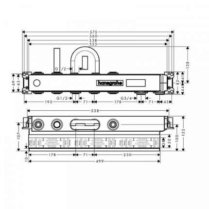 Смеситель для встраиваемой системы Hansgrohe 15314180