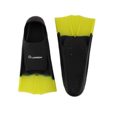 Ласты для плавания Larsen 6975, размер 33-35, черные/желтые