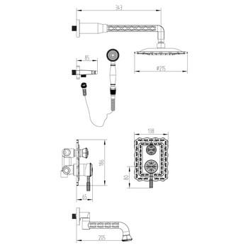 Смеситель для ванны Lemark Jasmine LM6622ORB