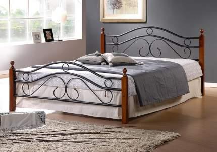Кровать полутораспальная TetChair AT-803 140х200 см, красный/черный