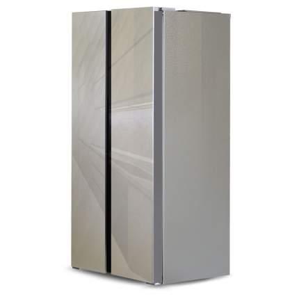 Холодильник Side-by-Side Ginzzu NFK-462 Gold Glass