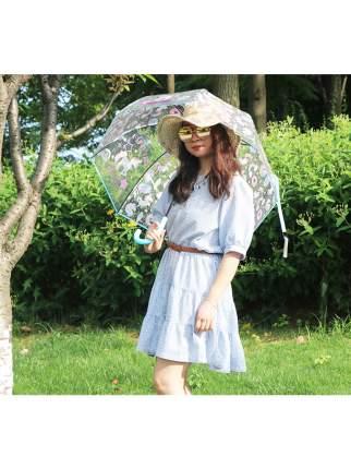 Зонт-трость МихиМихи Единорог Keep Calm and be Unicorn прозрачный купол, голубой