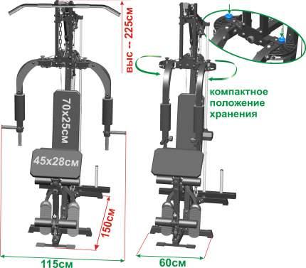 Станция силовая со свободными весами Leco-IT Pro