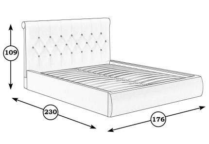 Кровать интерьерная Mobi Тиффани 176х230х109 см, бежевый