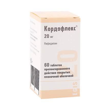 Кордафлекс ретард таблетки, покрытые оболочкой 20 мг 60 шт.