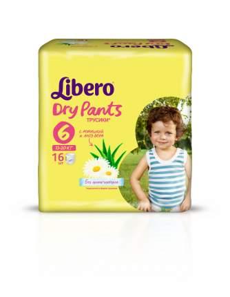Подгузники-трусики Libero Dry Pants Size 6 (13-20кг), 16 шт.