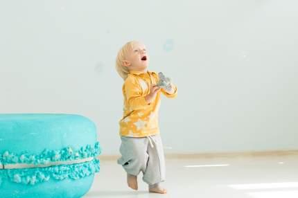 Брюки детские Bambinizon Серый меланж ШТФ-СМ р.116 серый