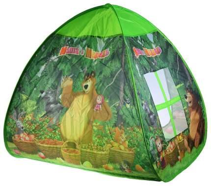 Игровая палатка Играем Вместе Маша и Медведь с тоннелем GFA-TONMB01-R