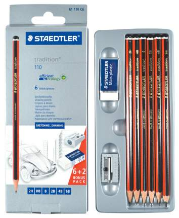 Карандаши чернографитные Staedtler Tradition 110 ST61110C6