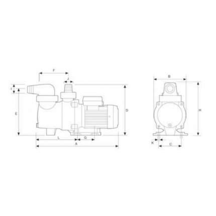 Насос для бассейна Glong FCP-S FCP-250S