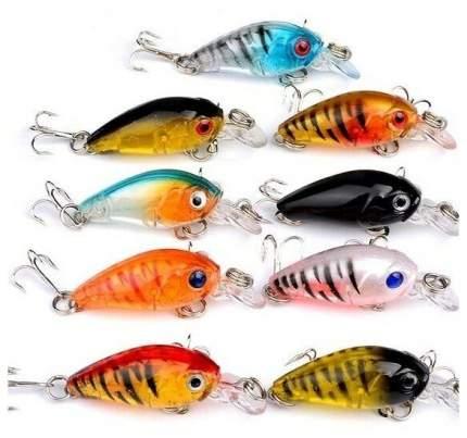Набор форелевых воблеров. 9 штук. Lucky Fish. KIT421