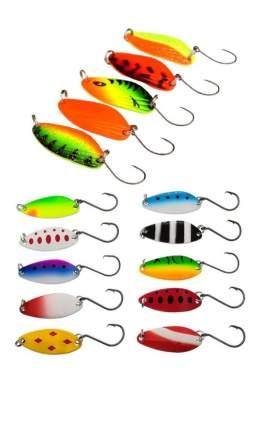 Блесна форелевая. Набор 15 штук. Lucky Fish. KIT369