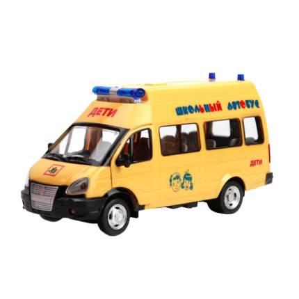 Машинка Технопарк пласт. газ. газель, школьный автобус со светом и звуком