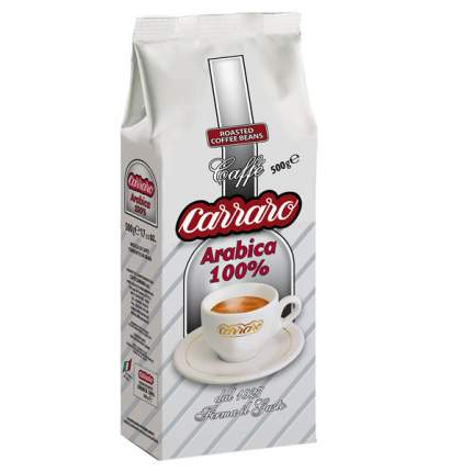 Кофе в зернах Carraro arabica 100% 500 г