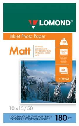 Фотобумага для принтера Lomond A6 180г/кв.м односторонняя матовая 50 л