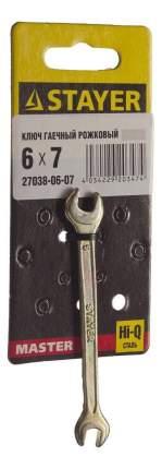 Рожковый ключ Stayer 27038-06-07